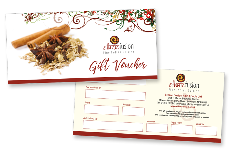 Ethnic Fusion Gift Voucher