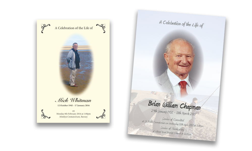 Harlequin Colour Print - Bespoke Funeral Stationery